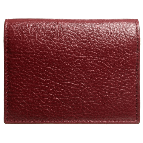 Men - Accessories - Wallets & Small Goods Grained Calf Leather Card Wallet - Rosewood