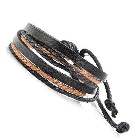 Men - Jewelry - Bracelets Braided Leather Fashion Bracelet