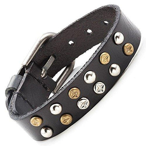 Men - Jewelry - Bracelets Leather Stud Fashion Bracelet