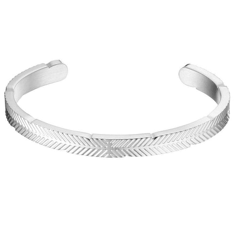 Mister SFC Men - Jewelry - Bracelets Chrome / XS Stainless Steel Feather Cuff Bracelet
