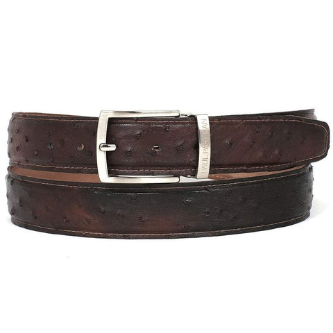 Paul Parkman Handmade Shoes Men - Accessories - Belts Paul Parkman Genuine Ostrich Belt - Brown