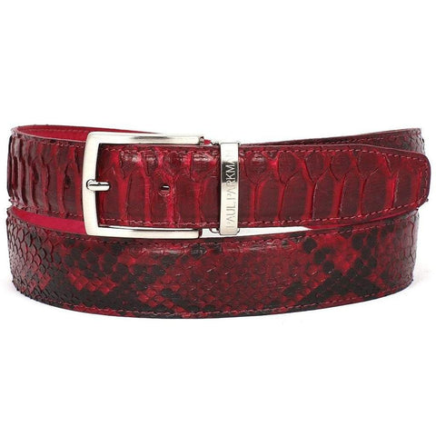 Paul Parkman Handmade Shoes Men - Accessories - Belts Paul Parkman Genuine Python Belt - Burgundy