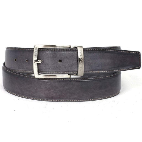 Paul Parkman Handmade Shoes Men - Accessories - Belts Paul Parkman Hand-Painted Leather Belt - Gray