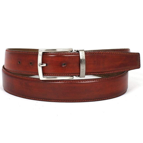 Paul Parkman Handmade Shoes Men - Accessories - Belts Paul Parkman Hand-Painted Leather Belt - Reddish Brown