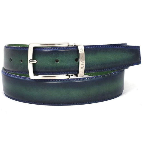 Paul Parkman Handmade Shoes Men - Accessories - Belts Paul Parkman Leather Belt - Dual-Tone Blue & Green