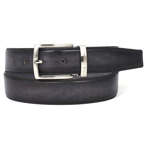 Paul Parkman Handmade Shoes Men - Accessories - Belts Paul Parkman Leather Belt - Dual-Tone Gray & Black