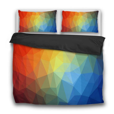 Printy6 Bedding Sets US Twin Custom Printed 3-Piece Duvet Cover Set - Fractal Rainbow