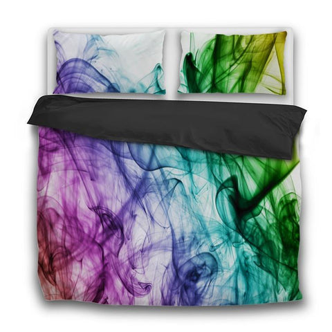 Printy6 Bedding Sets US Twin Custom Printed 3-Piece Duvet Cover Set - Rainbow Smoke