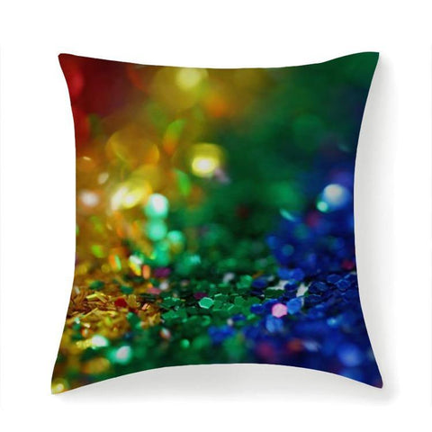 Printy6 Pillow 14''x14'' / Only Pillow Case Maletropolis Pride Pillow - Confetti