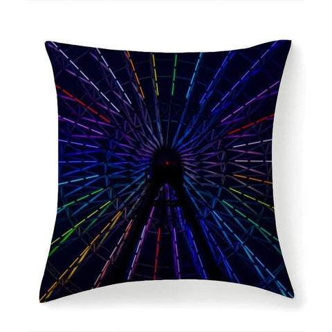 Printy6 Pillow 14''x14'' / Only Pillow Case Maletropolis Pride Pillow - Ferris Wheel