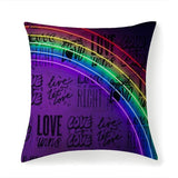Printy6 Pillow 14''x14'' / Only Pillow Case Maletropolis Pride Pillow - Love Is Love