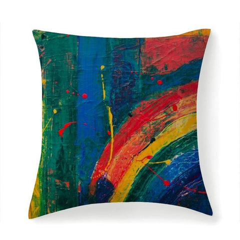 Printy6 Pillow 14''x14'' / Only Pillow Case Maletropolis Pride Pillow - Rainbow Painter