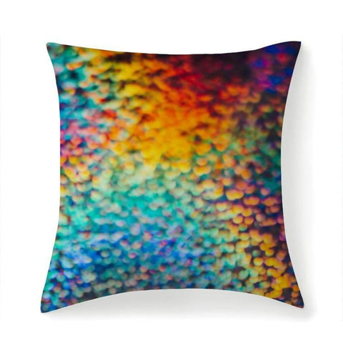 Printy6 Pillow 14''x14'' / Only Pillow Case Maletropolis Pride Pillow - Rainbow Puff