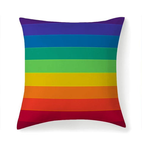 Printy6 Pillow 14''x14'' / Only Pillow Case Maletropolis Pride Pillow - Serious Rainbow