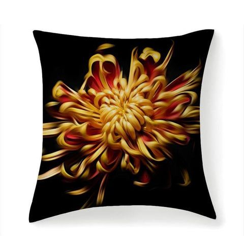 Printy6 Pillow 14''x14'' / Only Pillow Case Overall Print Pillow - Chrysanthemum