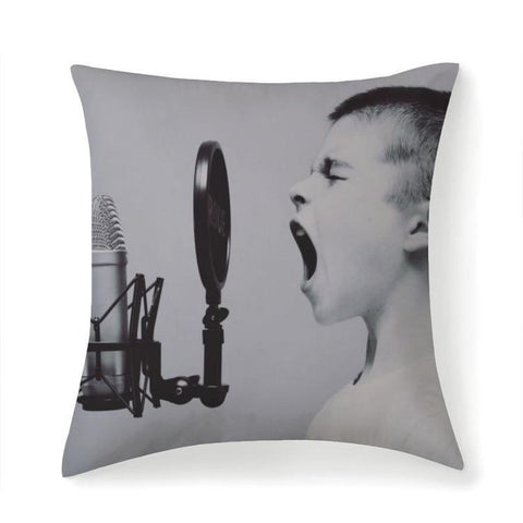 Printy6 Pillow 14''x14'' / Only Pillow Case Overall Print Pillow - Microphone