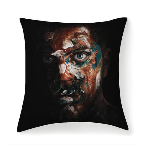 Printy6 Pillow 14''x14'' / Only Pillow Case Overall Print Pillow - Paint Face