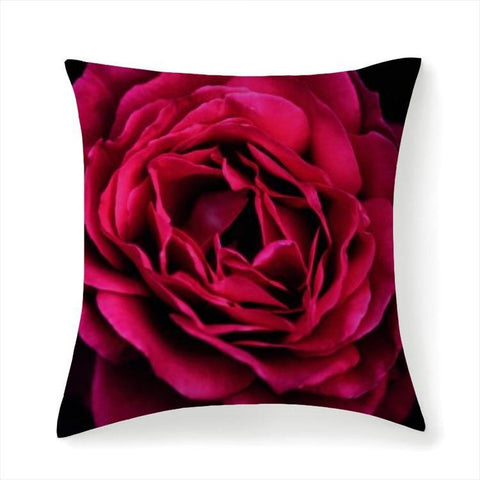 Printy6 Pillow 14''x14'' / Only Pillow Case Overall Print Pillow - Pink Rose