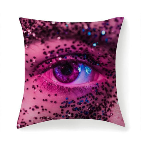 Printy6 Pillow 14''x14'' / Only Pillow Case Overall Print Pillow - Purple Glitter