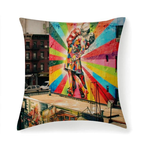Printy6 Pillow 14''x14'' / Only Pillow Case Overall Print Pillow - Rainbow Kiss