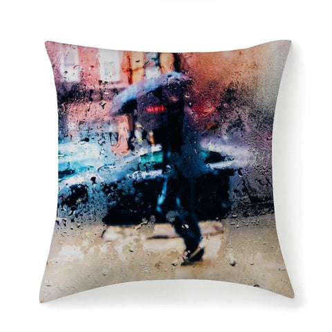Printy6 Pillow 14''x14'' / Only Pillow Case Overall Print Pillow - Rainy Day