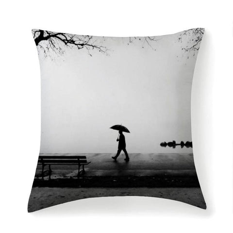 Printy6 Pillow 14''x14'' / Only Pillow Case Overall Print Pillow - Rainy Walk