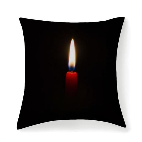 Printy6 Pillow 14''x14'' / Only Pillow Case Overall Print Pillow - Red Candle