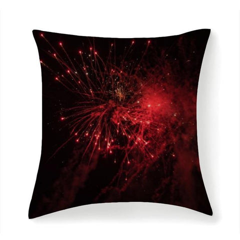 Printy6 Pillow 14''x14'' / Only Pillow Case Overall Print Pillow - Red Fireworks