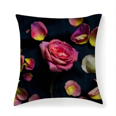 Printy6 Pillow 14''x14'' / Only Pillow Case Overall Print Pillow - Rose Petals