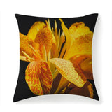 Printy6 Pillow 14''x14'' / Only Pillow Case Overall Print Pillow - Yellow Iris