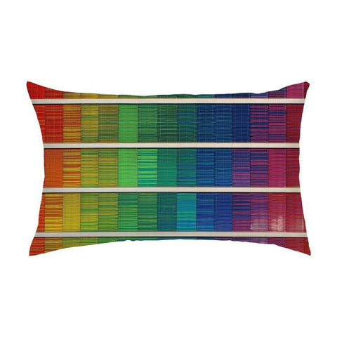 Printy6 Pillow 16''x24'' / Only Pillow Case Maletropolis Pride Pillow - Digital Rainbow