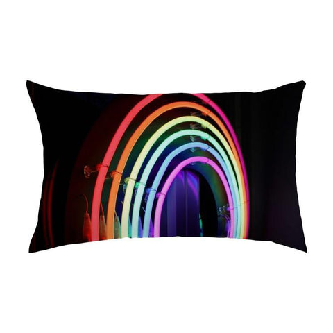 Printy6 Pillow 16''x24'' / Only Pillow Case Maletropolis Pride Pillow - Neon Rainbow