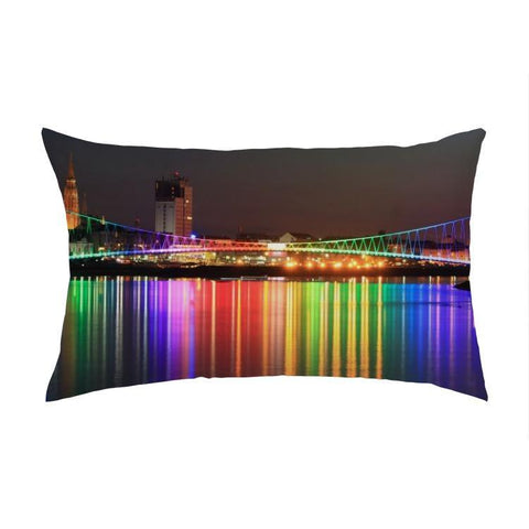 Printy6 Pillow 16''x24'' / Only Pillow Case Maletropolis Pride Pillow - Rainbow Bridge