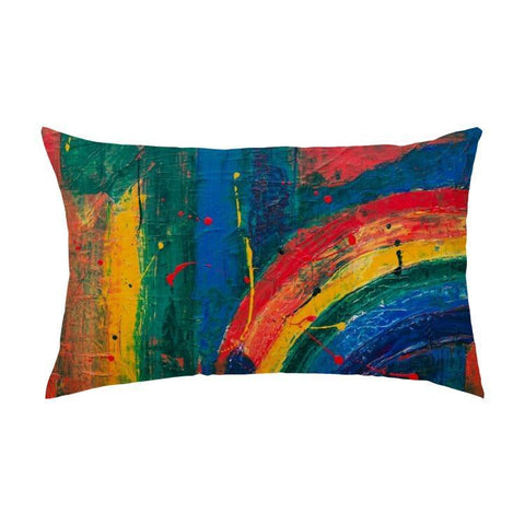 Printy6 Pillow 16''x24'' / Only Pillow Case Maletropolis Pride Pillow - Rainbow Painter