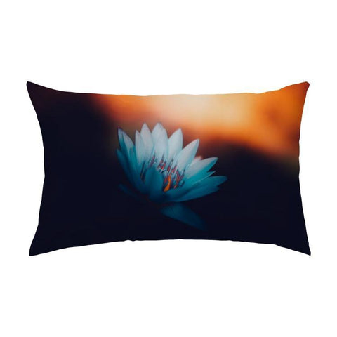 Printy6 Pillow 16''x24'' / Only Pillow Case Overall Print Pillow - Blue Water Lily