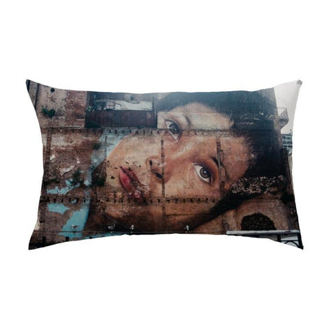 Printy6 Pillow 16''x24'' / Only Pillow Case Overall Print Pillow - Face Mural