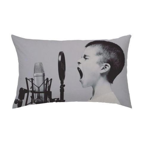 Printy6 Pillow 16''x24'' / Only Pillow Case Overall Print Pillow - Microphone