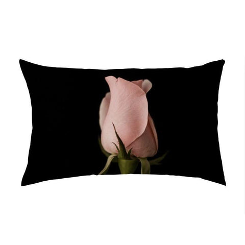 Overall Print Pillow - Pink Rosebud
