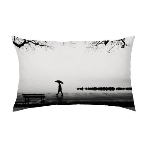 Printy6 Pillow 16''x24'' / Only Pillow Case Overall Print Pillow - Rainy Walk