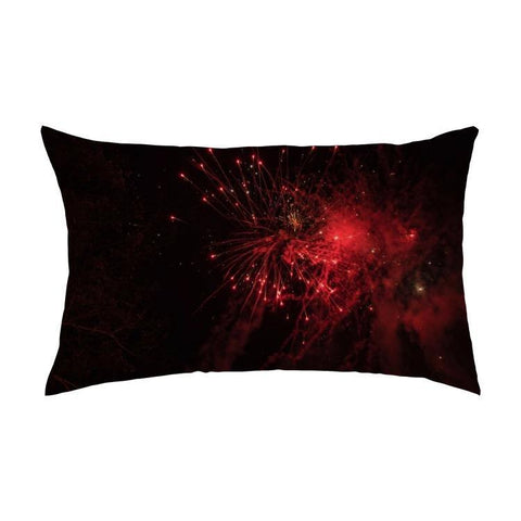 Printy6 Pillow 16''x24'' / Only Pillow Case Overall Print Pillow - Red Fireworks