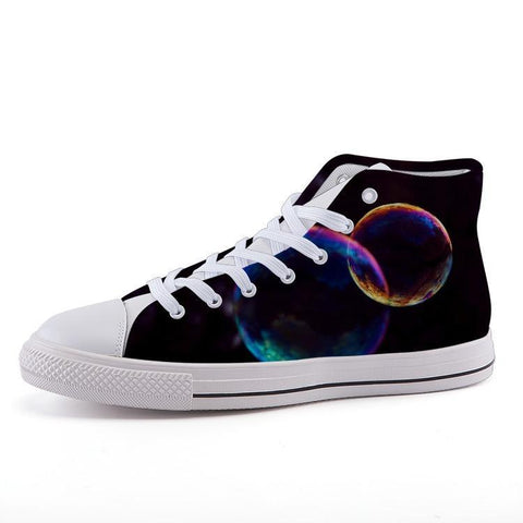 Printy6 Shoes 35 Maletropolis Custom High-Top Pride Sneakers - Bubbles