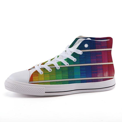 Printy6 Shoes 35 Maletropolis Custom High-Top Pride Sneakers - Digital Rainbow