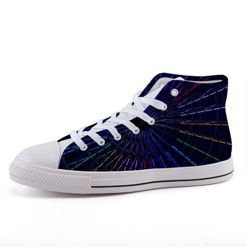 Printy6 Shoes 35 Maletropolis Custom High-Top Pride Sneakers - Ferris Wheel