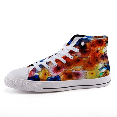 Printy6 Shoes 35 Maletropolis Custom High-Top Pride Sneakers - Glass Flowers