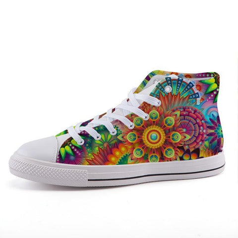 Printy6 Shoes 35 Maletropolis Custom High-Top Pride Sneakers - Hippie