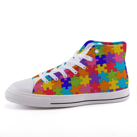 Printy6 Shoes 35 Maletropolis Custom High-Top Pride Sneakers - Jigsaw