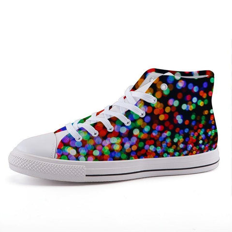 Printy6 Shoes 35 Maletropolis Custom High-Top Pride Sneakers - Lights