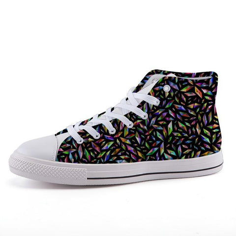 Printy6 Shoes 35 Maletropolis Custom High-Top Pride Sneakers - Polygons