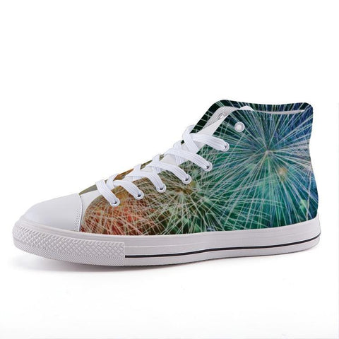 Printy6 Shoes 35 Maletropolis Custom High-Top Pride Sneakers - Rainbow Fireworks