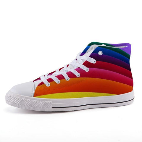 Printy6 Shoes 35 Maletropolis Custom High-Top Pride Sneakers - Rainbow Flag